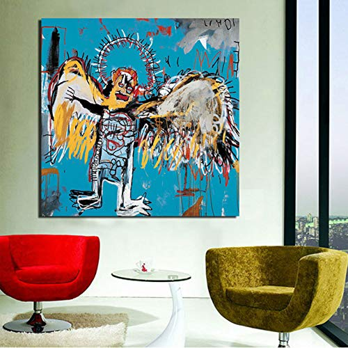KWzEQ Nordische Plakat abstrakte Graffiti Leinwand Wandkunst Dekoration Moderne Hauptdekoration,Rahmenlose Malerei,50x50cm
