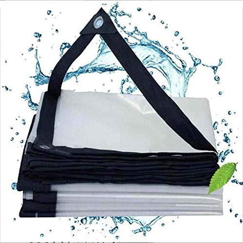 YLKCU Lonas Transparentes de 13 pies x 26 pies Waterproofm, Cubierta de Lona Resistente al Agua, Carpa de Lona de Lona, Tela de protección Solar Resistente a la Lluvia, Lona Transparente con Ojales