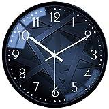 VIKMARI Vetro Orologio da Parete d'attaccatura di Arte Orologi Silenzioso Non ticchettio Quality Quartz Battery Operated Orologi da Parete Numeri Arabi Orologio 12 inch