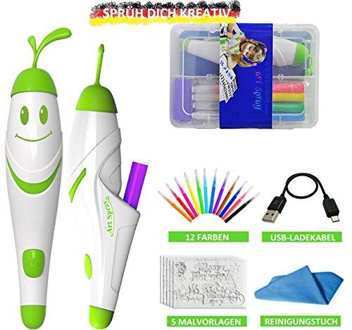 SOUCCESS Kabelloses Airbrush Spraystifte-Malset, 21tlg. mit 12 Farben zum Malen, Basteln und Gestalten, Kreativ-Set