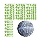 PTMD Pegatinas brillantes en la oscuridad, estrellas y luna pegatinas de pared para decoración de dormitorio
