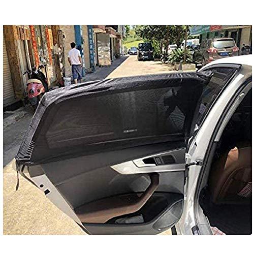 Gwill - 2 parasoles para ventanilla de Coche para bebé, protección UV, para bebés, Mascotas, niños, protección antimosquitos (Negro, 101,6 x 50,8 cm)