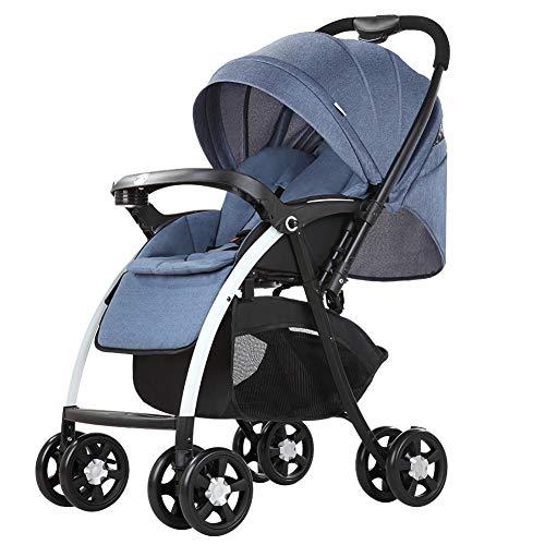 ASDFG Zusammenklappbar Buggy Kinderwagen Mit Umsetzbarer Sitzeinheit Und Liegeposition 5-Punkt-sicherheitsgurt Sportwagen Kids54x66x102cm-B