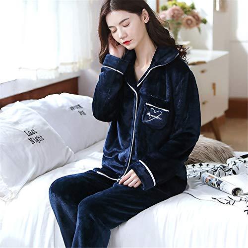 Weiche Damen Pyjamas, Dicke Bademäntel aus Korallenvlies, warme Hauskleidung für Herbst und Winter Größen A15 M