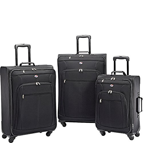 American Tourister Pop Plus 3-Piece Softside (SP21/25/29) Luggage Set with Multi-Directional Spinner Wheels