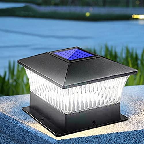 Lámpara solar del casquillo del poste del LED con el sensor de luz, IP65 impermeable lámpara solar del pilar de la lámpara del paisaje para la cubierta de los postes de la cerca