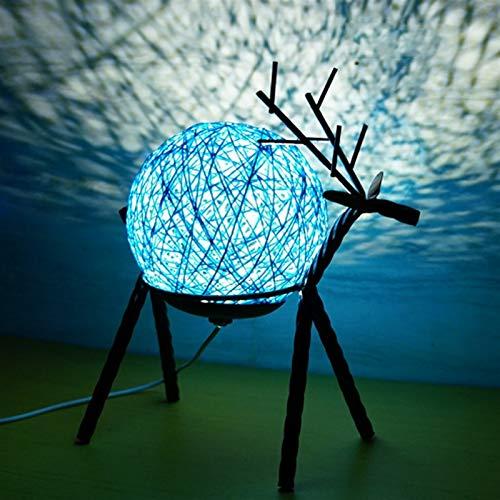 Lámpara de mesa Lámpara de mesa romántica lámpara de noche Bola de ratán Lámpara redonda con puerto de carga USB Lámpara de sueño dulce Lámpara de cumpleaños Luz de noche Mesita de Noche Lámpara