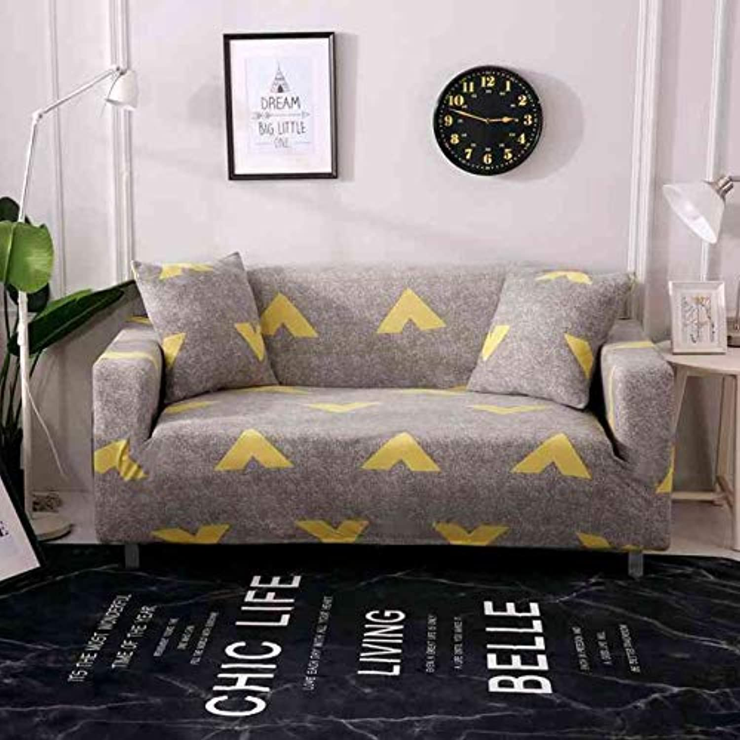 Modern Style Printed Sectional Sofa Cover 1pc One Two Three Four Seat Slipcover 100% Polyester Chaise Cover Furniture Couch Cover   color21, 1 seat Sofa Cover