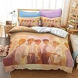 Goplnma -BTS Ropa de cama, Bangtan Boys, funda nórdica con funda de almohada BTS, para A.R.M.Y, impresión 3D, multicolor (135 x 200 cm, 22)