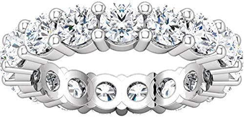 4 Outlet ☆ Manufacturer regenerated product Free Shipping Carat ctw 14K White Gold Weddi Round Diamond Ladies Eternity