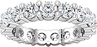 5 Carat (ctw) 14K White Gold Round Diamond Ladies Eternity Wedding Anniversary Stackable Ring Band Luxury Collection (D-E ...