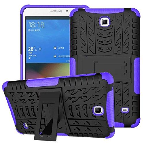 XITODA Funda para Samsung Galaxy Tab 4 7.0, Hybrid TPU Silicone & Duro PC Protección Cover para Samsung Galaxy Tab 4 7.0 Pulgadas SM-T230/T231/T235 Tablet Case Funda con Kickstand/Stand - Púrpura
