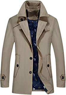 Sunward Coat for Men, Men's Autumn Winter Outdoor Windbreaker Thick Warm Jacket Coat