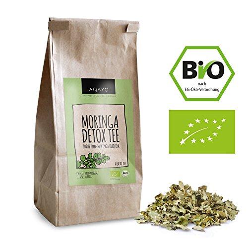 AQAYO Moringa Detox Tee | 100% Bio-Moringa Oleifera | Getrocknete Moringa Blätter (90g Moringa Tee)