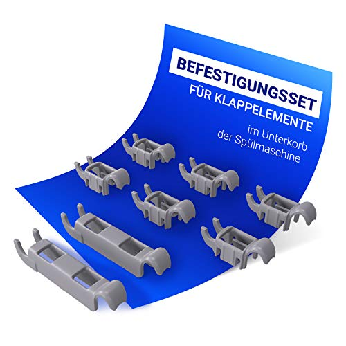 Set di morsetti di ricambio per Bosch 00611472 611472 con gancio di fissaggio per asta pieghevole, cestello inferiore lavastoviglie