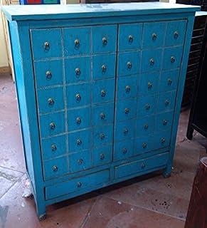 Antique armoire à pharmacie Armoire bureau Armoire Pharmacie Armoire Buffet armoire commode commode avec 2tiroirs 2porte...