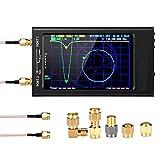 HIMAPETTR 50KHz-1.5GHz Analizador de Red Vectorial, 4.3 Pulgadas, Analizador De Antena, HF VHF UHF Analizador de Espectro 5000mAh Pantalla táctil LCD Digital, para la medición de parámetros