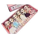 AXB BJD Doll, 16cm/6pulgadas 6 Piezas Muñeca Princesa 13 Articulaciones Móviles Muñecas con Zapatos de Falda, De Moda Regalo para Niñas