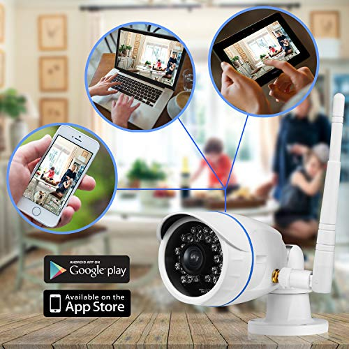 Wireless Outdoor IP Security Camera - Weatherproof HD Home WiFi Surveillance Internet Video w/ Built in16g SD Storage - Motion Detection Night Vision for PC iOS Android - Serenelife IPCAMHD15