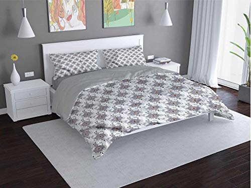 Toopeek Tattoo 100% washed microfiber bed set Mandala-Arrows-Yoga Super soft and breathable duvet cover (Twin)