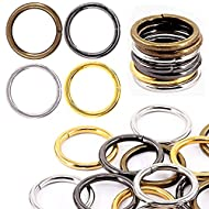 YIXI-SBest 40 Pcs 4 Color 3/4 Inch Assorted Multi-Purpose Metal O Ring for Hardware Bags Ring Hand DIY Accessories - 20mm(4 Color 3/4 Inch)