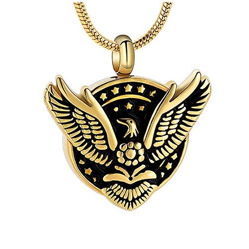Wxcvz Ceniza Collar Colgante Joyería De Cremación Mujeres Hombres Águila Collar con Colgante De Cremación De Acero Inoxidable para Las Cenizas De Los Seres Queridos Recuerdo