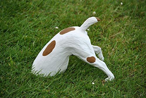 Deko Shop Cologne Hund Grabend Buddelnder braun Hunde halber Gartenfigur Figur Garten u. Innen