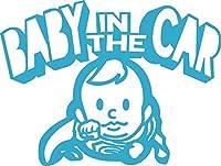 Baby in the car  ベービーインザカー 子供が乗ってますステッカー Super Boy (スカイブルー)