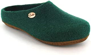 WoolFit Classic Unisex Felt Slippers - All Natural Handmade Wool Clogs with Arch Support & Removable Comfort Insoles