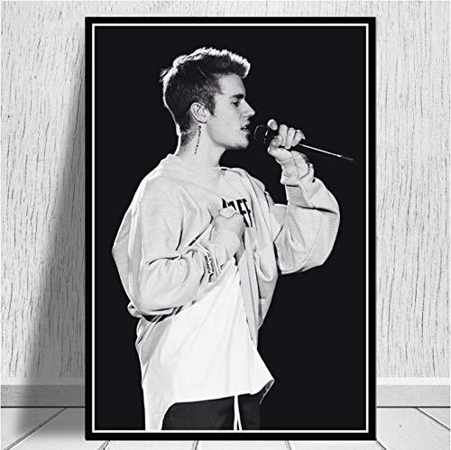 Hao Sai's shop Justin Bieber Fashion Pop Music Singer Star Poster Prints...