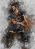 BINGSHUAI Basquetbol superestrella póster decoración pintura al óleo arte de la pared sala de estar póster dormitorio pintura 40 cm x 60 cm enmarcado