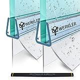 Werkler Original Duschdichtung [DOPPELPACK] - 2x 80cm Duschtürdichtung für 6mm / 7mm / 8mm Glasstärke - Dichtung für die Glastür passend für jede Dusche - Set aus 2 Gummilippen inkl. Anleitung