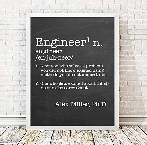 Personalized Engineer Definition Paper Print   Engineer Defined Poster   Office Decor   Engineer Gift   Coworker Gift   Christmas Engineer Gift   Engineer Gag Gift   Personalized Office Gift