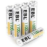 EBL Leistungsstarke 1.2V Ni-MH AAA Akku mit hoher Kapazität 1100mAh, ideal für Geräte mit hohem Stromverbrauch Ideal geeignet für ferngesteuertes Spielzeug, Maus, Taschenlampe, Personenwaage, medizinische Geräte, schnurlose Tastatur und viele mehr Se...