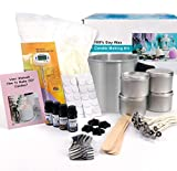 Candle Making Kit – Easy to Make Colored Candle Soy Wax Kit Include Wax, Rich Scents, Dyes, Wicks, Tins &...