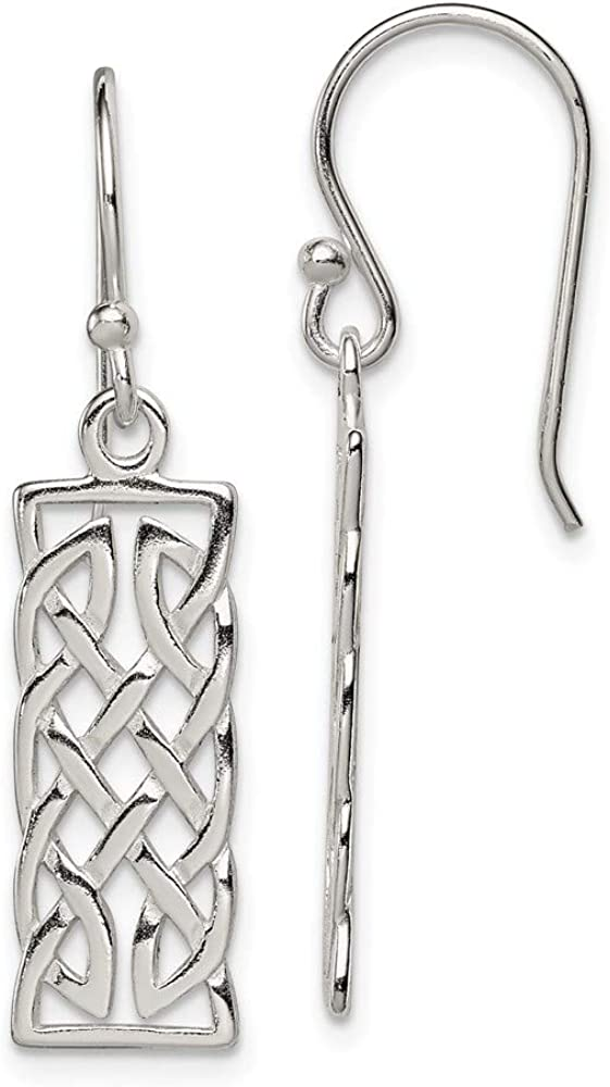 Outlet ☆ Free Shipping Ranking TOP5 Sterling Silver Rectangular Earrings Dangle