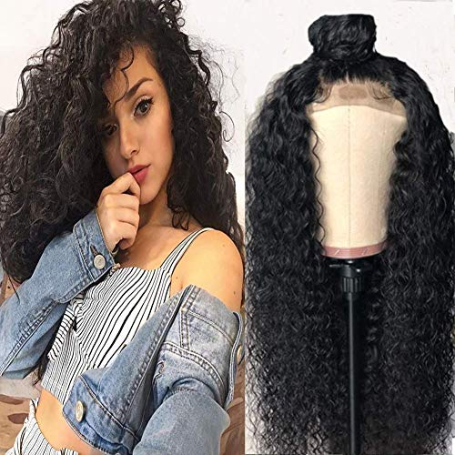 Lace Front Echthaar Perücke 13x6 Water Wave Lace Frontal Wig 16 zoll Echthaar Perücke Brasilianische Real Virgin Hair 6 zoll Deep Free Part mit Baby Hair Pre Plucked Bleached Knots 130 Dichte