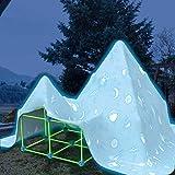 Kit de construcción para niños Fort Building Kit, Build Your Own den Kit for Boys Girls – DIY Set Spark Creativity Castle Rocket House Tunnel Toys for Indoor & Outdoor
