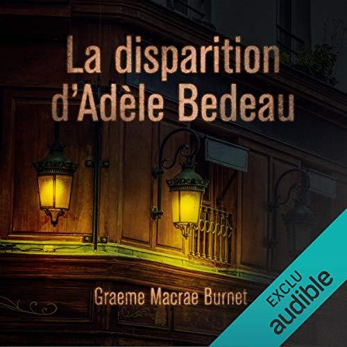 Couverture de La disparition d'Adèle Bedeau