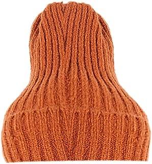LENXH Autumn and Winter Warm Knit Hat Solid Color Wool Caps Caps Unisex Cotton Cap Fashion Casual Hat
