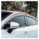 QUXING Derivabrisas para Mazda 6 Atenza 2014-2018 Visita De La Ventana Sun Rain Flick Deflector Toldo Escudo De Ventilación Guardia Tapa De Shade Trim Derivabrisas Deflectores