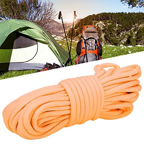 minifinker 10m 9 núcleos de Cuerda de Paracord portátil Ligero para Llavero, mosquetón, Collar de Perro(Orange)
