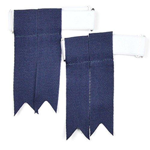 Flashes pour chaussettes de kilt Écossais - Bleu marine