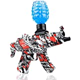 Electric MP5 Water Ball Toys — Shoots Eco-Friendly Water Beads Bullets for Outdoor Activities-Fighting Shooting Team Game for Boys and Girls Ages 12+ (Red)
