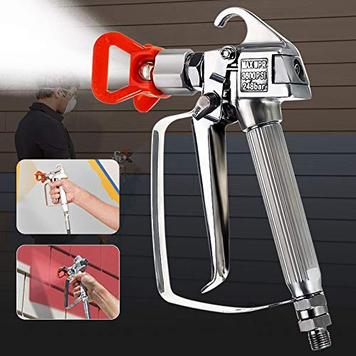 CRAZYON 3600PSI Airless-Hochdruck-Spritzpistole + Düse No Gas 248 Bar/Tip Guard Pump Sprayer Sprühlackiermaschine