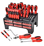 100-Piece Magnetic Screwdriver Sets with Magnetic Tips and Bits Set, Professional Repair Tool,Plastic Racking, Tools for Men Tools Gift