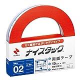 ニチバン 両面テープ ナイスタック はくり紙がはがしやすいタイプ 15mm NW-DE15