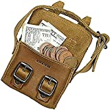 Hide & Drink, Leather Mini Messenger Bag/Coin Pouch/Cash Holder/Organizer/USB/SD Cards/Ornaments/Accessories, Handmade Includes 101 Year Warranty :: Single Malt Mahogany