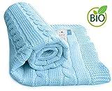 Wallaboo Couverture pour bébé Noa, Plaid, Très Doux pour Bébé, Couverture de Bébé Tricotée,  100% coton bio,...