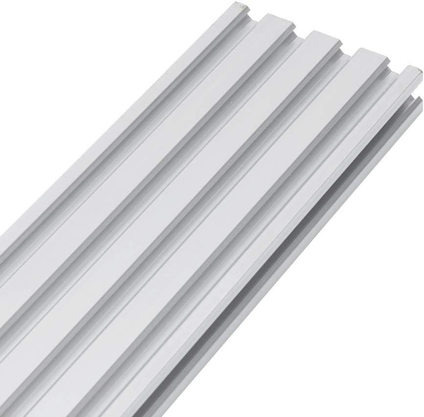 belupai 100-1200mm Silver 2080 Extrusiones de aluminio con ranura en V 20x80mm Marco de extrusi/ón de perfil de aluminio para m/áquina de grabado l/áser CNC